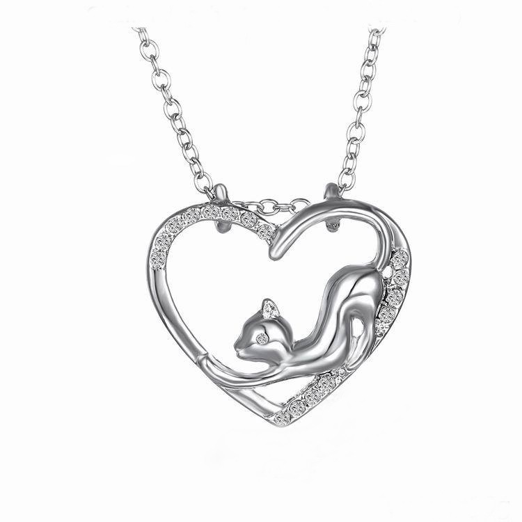 Cat in a Hart Pendant