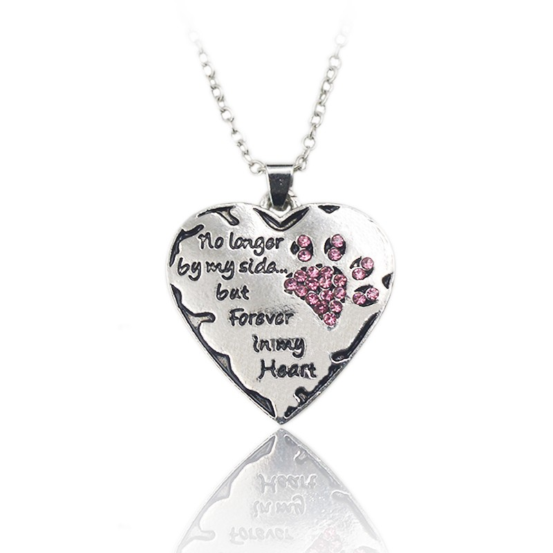 """""""No longer by my side but forever in my heart"""" pendant necklace"""