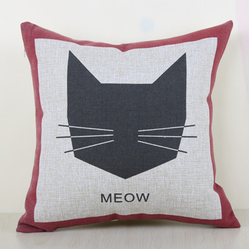 """Meow"" cushion cover"