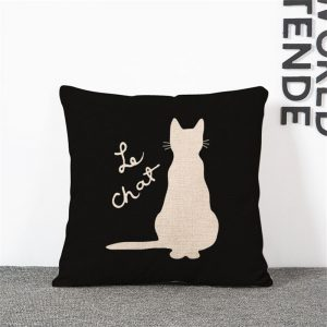 """""""Le Chat"""" cushion cover"""