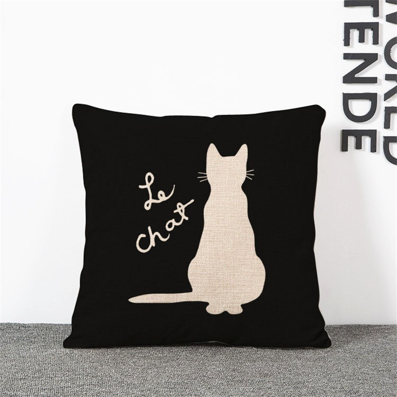 """Le Chat"" cushion cover"