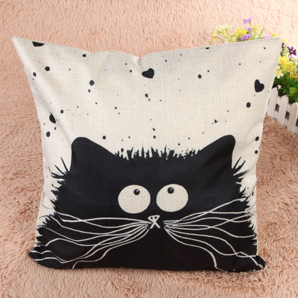 """""""Eyes in the sky"""" cat cushion cover"""