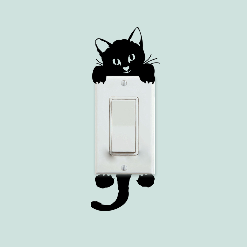 Cat light-switch wall sticker