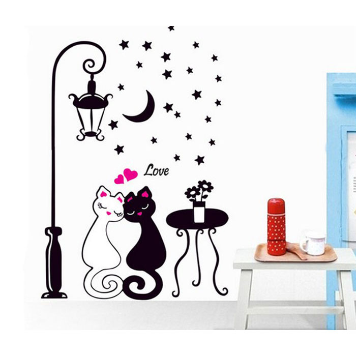 """Lovecats"" wall sticker"