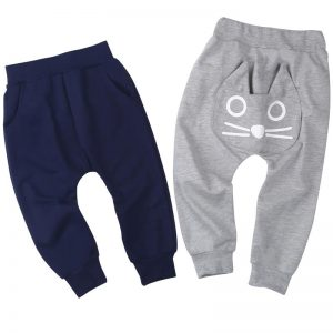 Baby harem pants with kitty detail