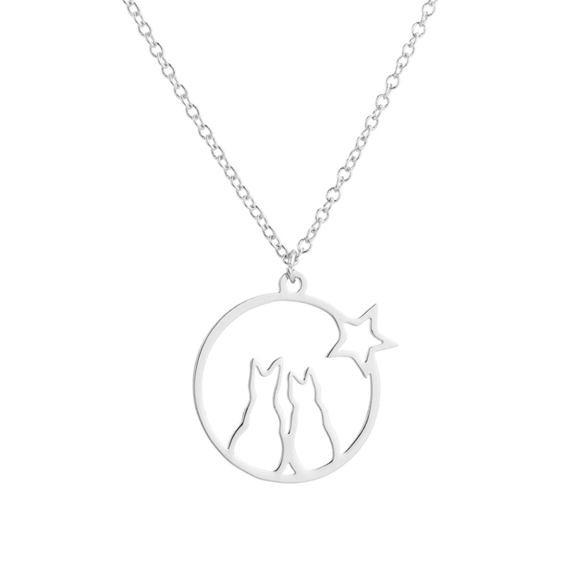 Cats with star pendan