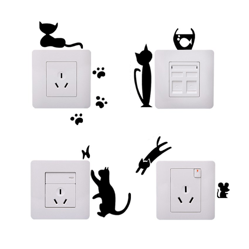 Cats fish and mice sticker